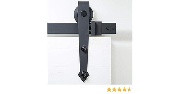 Sistema de puerta corredera, forma de flecha, 200 cm, juego ...
