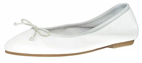 Ballerina off 32687 Bisue off white white Leather 7qvCE5Cw