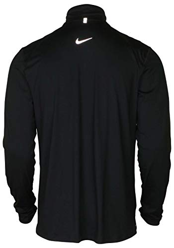 Nike Men's Dri-Fit Element 1/2 Zip Swoosh Running Top-Black-Medium by Nike (Image #3)