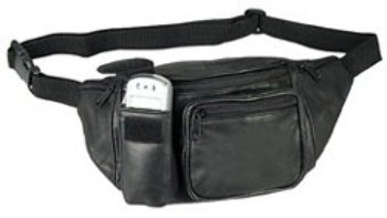 DDI 1474018 Leather Fanny Pack with Cell Phone Holder - Black Case Of 60 by DDI