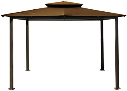 Paragon-Outdoor GZ584NC Backyard Structure Soft Top Barcelona Gazebo, 11 x 14 , Cocoa