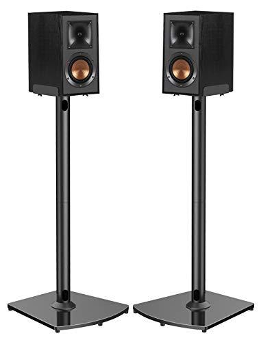 Soportes universales para bocinas con administración de cables Sostiene bocinas satelitales y de estantería de hasta 22 libras (es decir, Polk Yamaha Edifier Bose Klipsch Sony y Samsung) Soportes para bocinas con sonido envolvente de 33.6 pulgadas - 1 par