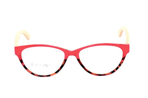 BLUE PLANET Reading Glasses Eco Friendly Women Sustainable Bamboo Ladies Designer Eyeglasses Red Tortoise - Products Planet Blue