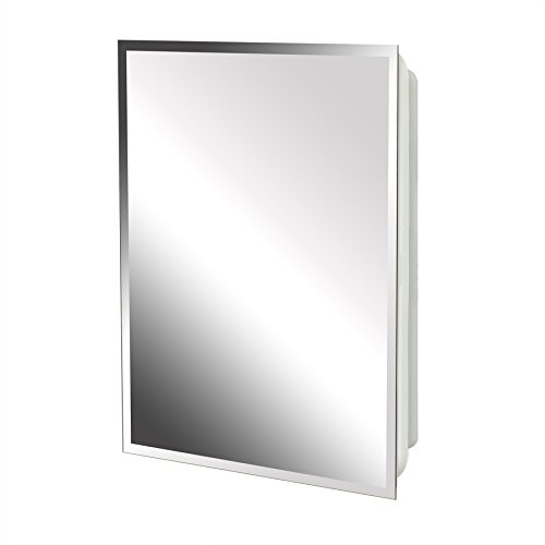 Project Source 16-in x 20-in Rectangle Surface/Recessed Mirrored Plastic Medicine Cabinet by Project Source