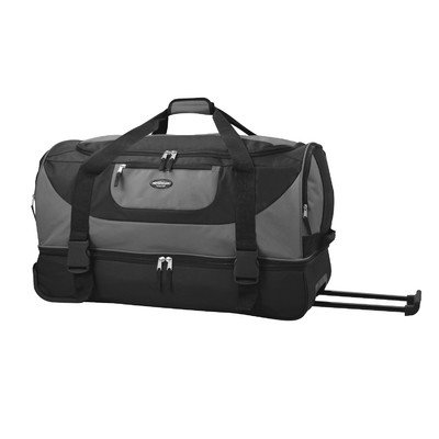 travelers-club-luggage-adventure-30-inch-multi-pocket-drop-bottom-rolling-duffel-gray-one-size