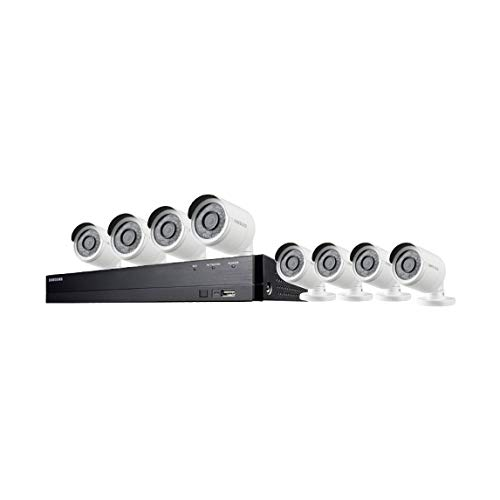 Wisenet SDH-B74083BF 8 Channel Full HD Video Security System with 1TB HDD, 8 Bullet Cameras