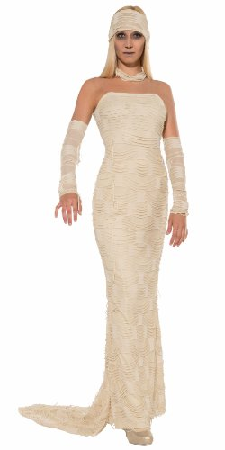 Forum Novelties Women's Classic Female Mummy Costume, White, (Mummy Costumes Women)