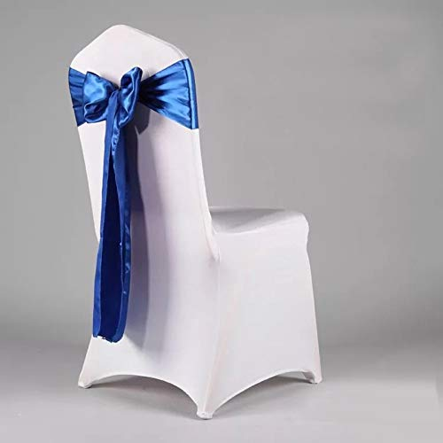 Chair Cover Sash - 10pcs Organza Chair Cover Sash Bow Wedding Anniversary Party Decoration Bows - Cover Pink Gold Buckle Black Wedding Rings Chair Green ()