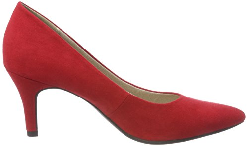 22452 Marco Mujer Rojo red Tozzi Tacón De Para Zapatos 5rpRBr