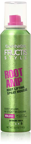 Garnier Fructis Root Amp Root Lifting Spray Mousse, 5 oz -