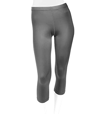 Plus Women's Spandex Compression Workout Capri - Made in USA