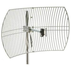 Premiertek Outdoor 2.4GHz 24DBI Directional High-Gain N-Type Female Aluminum Die Cast Grid Parabolic Antenna (ANT-GRID-24DBI)