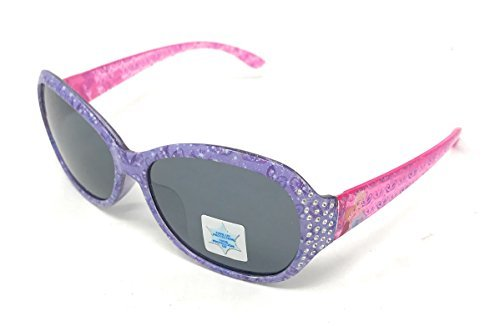 Disney Frozen Girl's Sunglasses in Purple and Pink with Silver Studs on Side of Lens - 100% UV Protection
