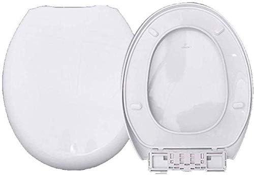 CXMMTGトイレのふた 抗菌PPボードと便座はO形状の便座、ホワイト-42〜44センチメートル* 36.5センチメートルのミュートウルトラ耐性トップマウントトイレのふたをスローダウン CXMWY-4W0Y2