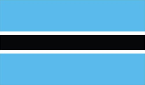 JMM Industries Botswana Flag Vinyl Decal Sticker Lefatshe la Botswana Car Window Bumper 2-Pack 5-Inches by 3-Inches Premium Quality UV-Resistant Laminate PDS393