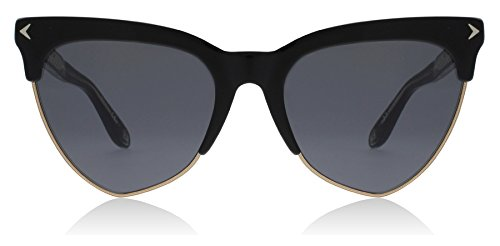 Givenchy Women's Teardrop Sunglasses, Black Gold/Grey Blue, One (Givenchy Black Sunglasses)