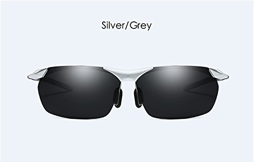 Para gray Polarizadas De Sol Como Al Y Aire Gray Libre Gafas Hombres KKCF silver Actividades Adecuadas Conducir Gray Para Playa wx5HtIWE