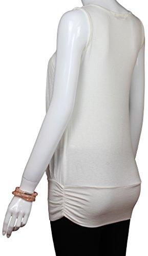 Alex Flittner Designs - Camiseta sin mangas - para mujer vanilla