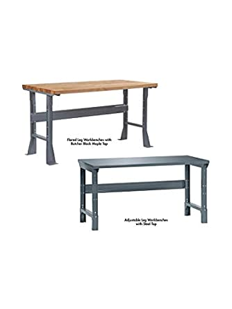 Strange Edsal W5327 Basic Flared Leg Steel Work Bench With Shop Top Andrewgaddart Wooden Chair Designs For Living Room Andrewgaddartcom