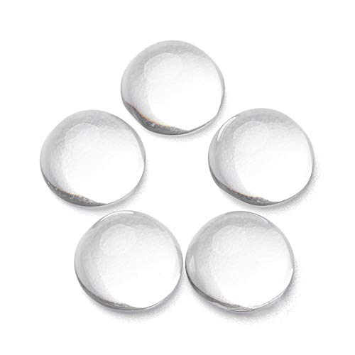 Craftdady 200Pcs Transparent Clear Glass Cabochons 10mm Flat Back Half Round Dome Tiles for Photo Pendant Jewelry Craft Making