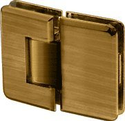 - CRL Pinnacle 580 Series Antique Brass 180186; Glass-To-Glass Hinge with 5186; Offset