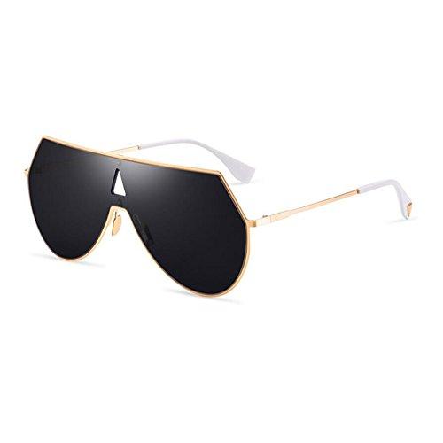 Grey Gold personnalité de voyage de Grey soleil Couleur HONEY lunettes conduisant unisexe Lunettes européen Gold style des extérieures Black de Black TFqU4
