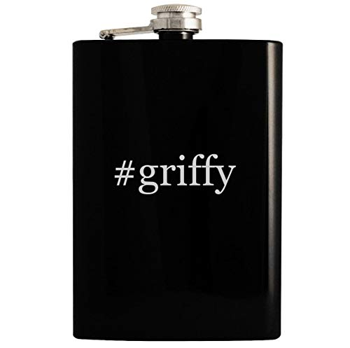#griffy - 8oz Hashtag Hip Drinking Alcohol Flask, Black (Ni No Kuni Best Equipment)