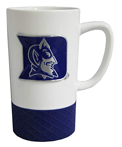 Great American Duke Blue Devils The Jump 15oz Coffee Mug with Metal Emblem