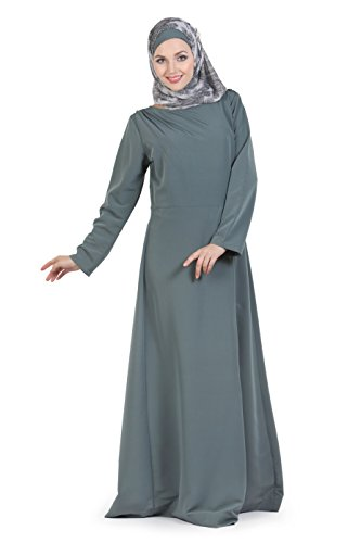 Momin Libas Grey Polyester Abaya & Burkha