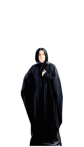 183cm Tall From the Official Harry Potter Books Star Cutouts Lifesize Cardboard Cutout of Severus Snape Alan Rickman