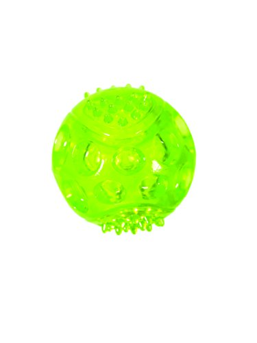 Chase n Chomp Durable TRP LED Light Up Fetch Ball Dog Toy, 2.5