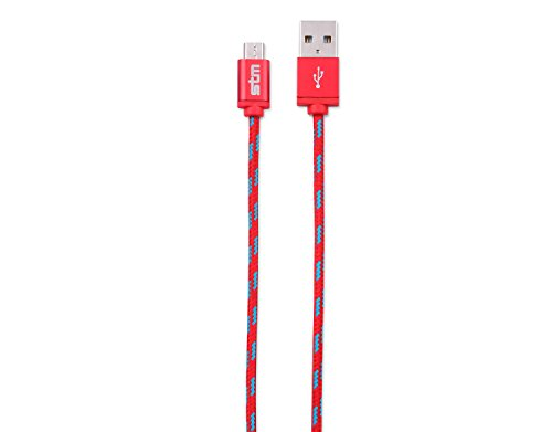 STM Elite Cable, Braided Micro USB Cable (1m) - Red (stm-931-099Z-29)