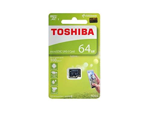 (Toshiba 64GB M203 microSDXC UHS-I U1 Card Class 10 microSD micro SD Card Memory Card 100MB/s)