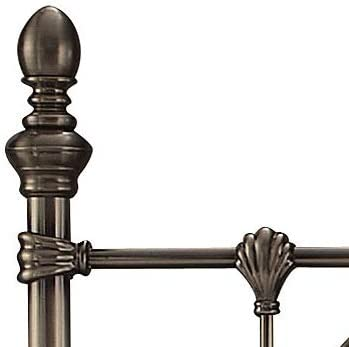 5ft King 4ft6 double 5ft King Size Save On Goods UK Antique nickel finish effect metal tubular tall headboard bed head end.Traditional Victorian style.4ft small double 6ft SuperKing