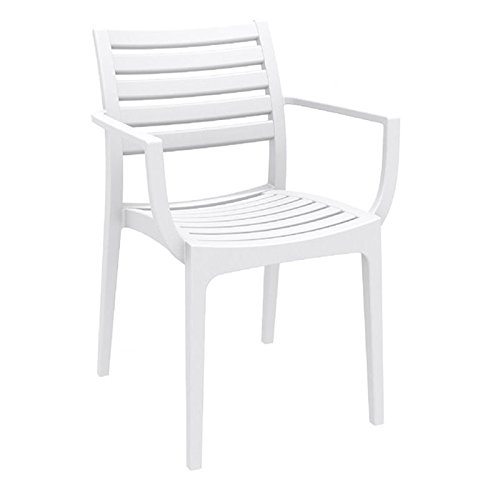 Compamia Artemis Outdoor Dining Arm Chair (Set of 4) – White