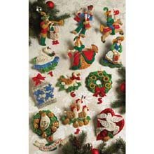 - Partridge In A Pear Tree Ornaments Felt Applique Kit: 5x5
