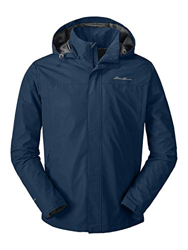 Eddie Bauer Men's Rainfoil Packable Jacket, Med Indigo Regular M