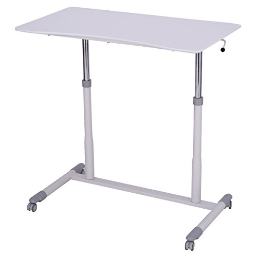 Tangkula Computer Desk Sit Stand Workstation