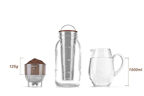 Ultra-Fine Mesh Cold Brew Coffee Filter to Use with 2-Quart Mason Jar by Geesta (Image #3)