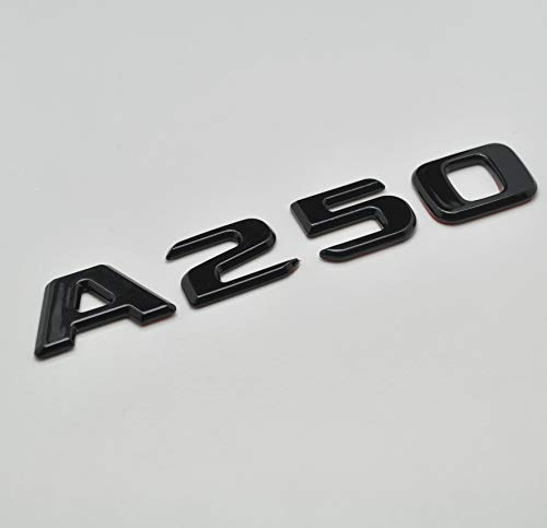 Gloss Black A250 Flat Benz Car Model Numbers Letters Badge Emblem For For A Class Benz W176 W177 AMG