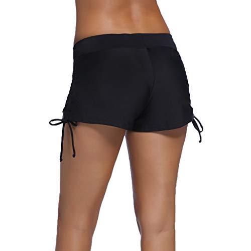 DMZing Women Swimsuit Shorts Tankini Swim Briefs Plus Size Bottom Boardshort Swim Short Black