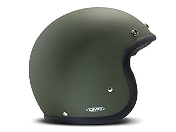DMD Casco Moto Vintage, color verde, talla M