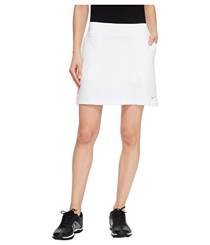 NIKE Women's Dry Golf Skort, White/Flat Silver, Small