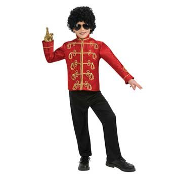 Rubies Michael Jackson Deluxe Red Military Jacket Child Costume-