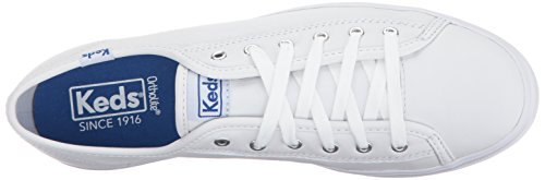 Triple Leather Sneaker Kick White Women Fashion Keds C45qgwg