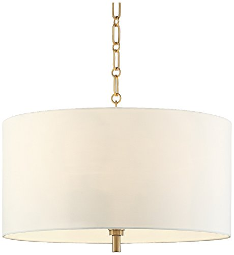 Drum Pendant Light White Shade in US - 8
