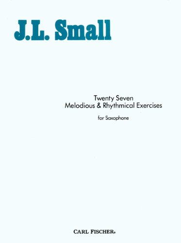 O1835 - Twenty Seven Melodious & Rhythmical Exercises for Saxophone ()