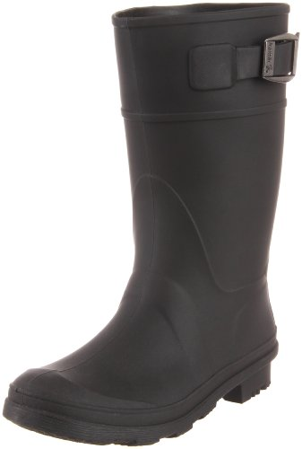 Kamik unisex-child Raindrops Rain Boot Black, 5 M US Big Kid