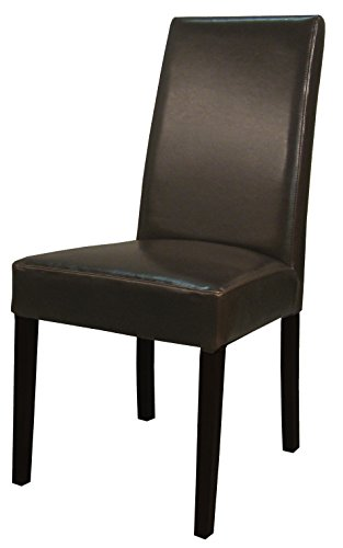 New Pacific Direct 198140B-01 Hartford Bonded Leather Dining Chair,Set of 2 Furniture Brown ()