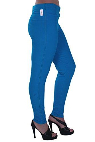 Taille Turquoise Dames tendue Jeggings Eyecatch Grand Pantalon Jeans Starla Aux Femmes 8qw8tPvF
